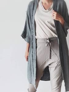 Bilde av Antrasitt - SPA Bomull Kimono