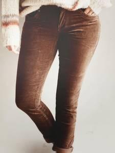 Bilde av Cognac - Sienna Velvet Bukse